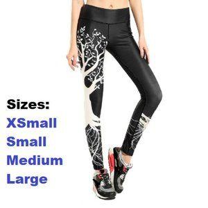 Black & White Tree pattern leggings